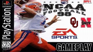 NCAA Football 98 [PS1] Gameplay (Nebraska vs. Oklahoma)