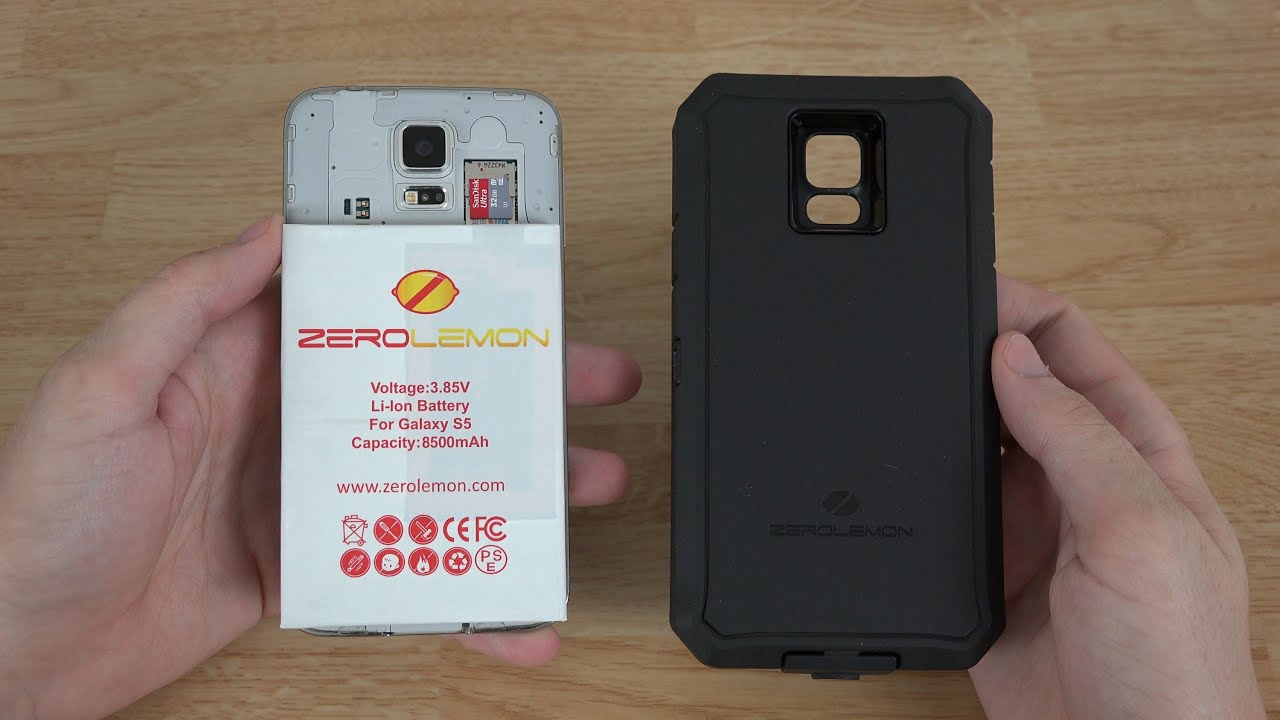 huge selection of db98b 9e961 ZeroLemon Samsung Galaxy S5 8500mAh Extended Battery + Zeroshock Rugged  Case + Screen Protector!