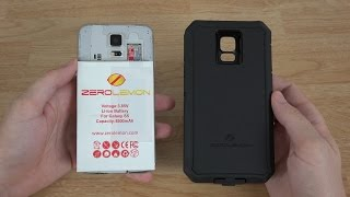 zerolemon samsung galaxy s5 8500mah extended battery zeroshock rugged case screen protector
