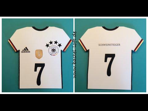 Em 2016 Trikot Karte Deutsche Nationalmannschaft Mit Stampin Up Produkten