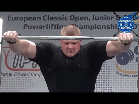 Nakonechnyy Pavlo - 1010.5 kg @ 21 y/o - EPF Classic Championships 2018 - 2nd Place 120+ Jr