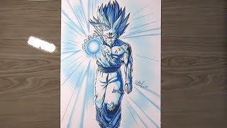 Speed Drawing - Gohan SSJ2 Kamehameha | Dragon Ball Z