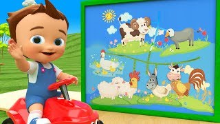 Animals Names for Kids with Matching Animals Faces Puzzle 3D Toy Set - Little Baby Fun Play Learning