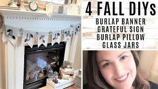 FALL DIYs – Autumn Banner – Burlap Pillow – Fall Glass Jars + more –  burlapfabric.com