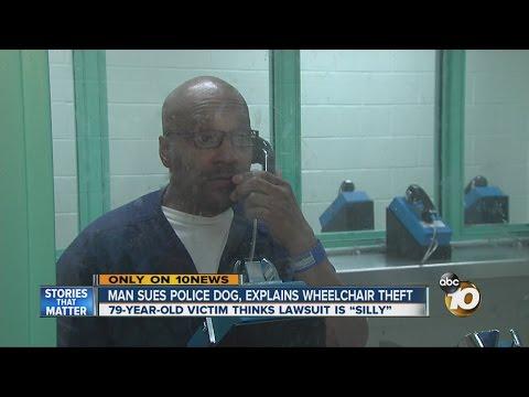 Man sues police dog, explains wheelchair theft