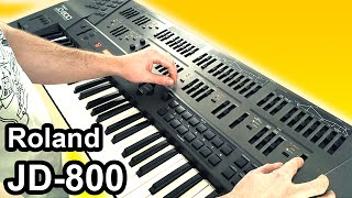 ROLAND JD 800 Ambient Chillout Music Soundscape SYNTH DEMO