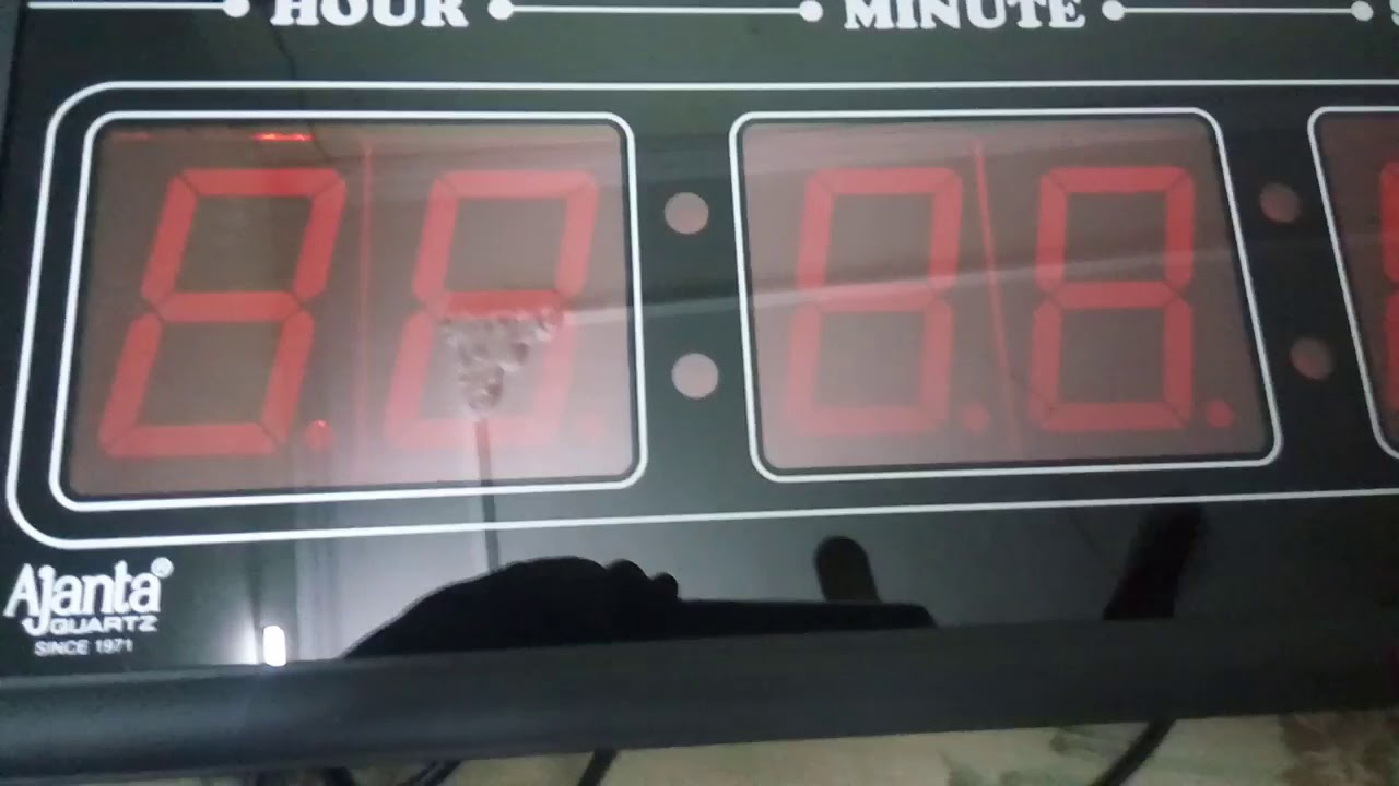 Ajanta Oreva Digital Wall Clock Model Olc 60 User Review Youtube