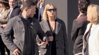 Ashley Benson arriving at the L Oreal boat in Paris