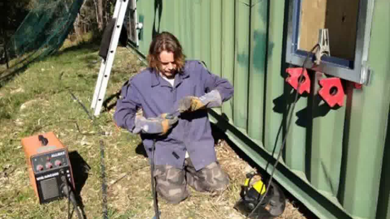Shipping container home welding youtube - Shipping container end welding ...