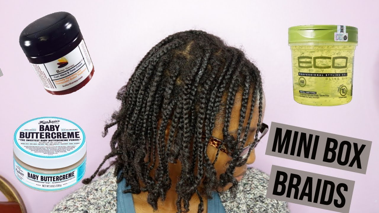 How To Mini Box Braids On Short Natural Hair No Extensions