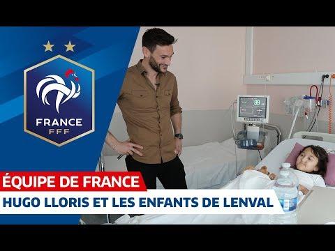 Hugo Lloris à la rencontre des enfants de l'hôpital Lenval, Equipe de France I FFF 2019