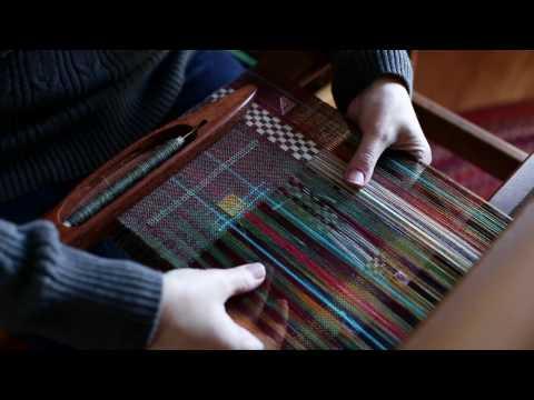 Simple Supplemental Warp for 4 shaft weaving