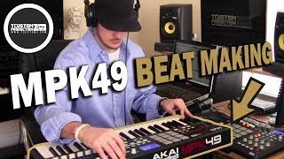 Making a Soulful Boom Bap Beat w/ Akai MPK49 -
