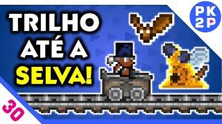 Terraria Mobile 1.3 ► Abeemination e montando trilho até a Selva! #30