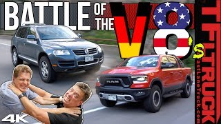 Ram Rebel vs VW Touareg 4x4 Worst MPG Battle: We Are Shocked By the Results | Ram Rebel Rouser Ep.6