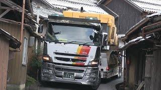 『新』日本に2台しかない16輪ステアリング装置付トレーラーを操る神業師 thumbnail