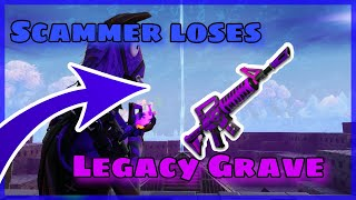 Scammer Loses legacy Grave! Scammer Gets Scammed! Fortnite Save The World!