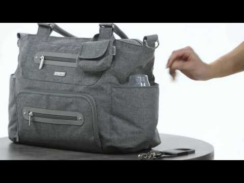 jj cole caprice diaper bag youtube. Black Bedroom Furniture Sets. Home Design Ideas