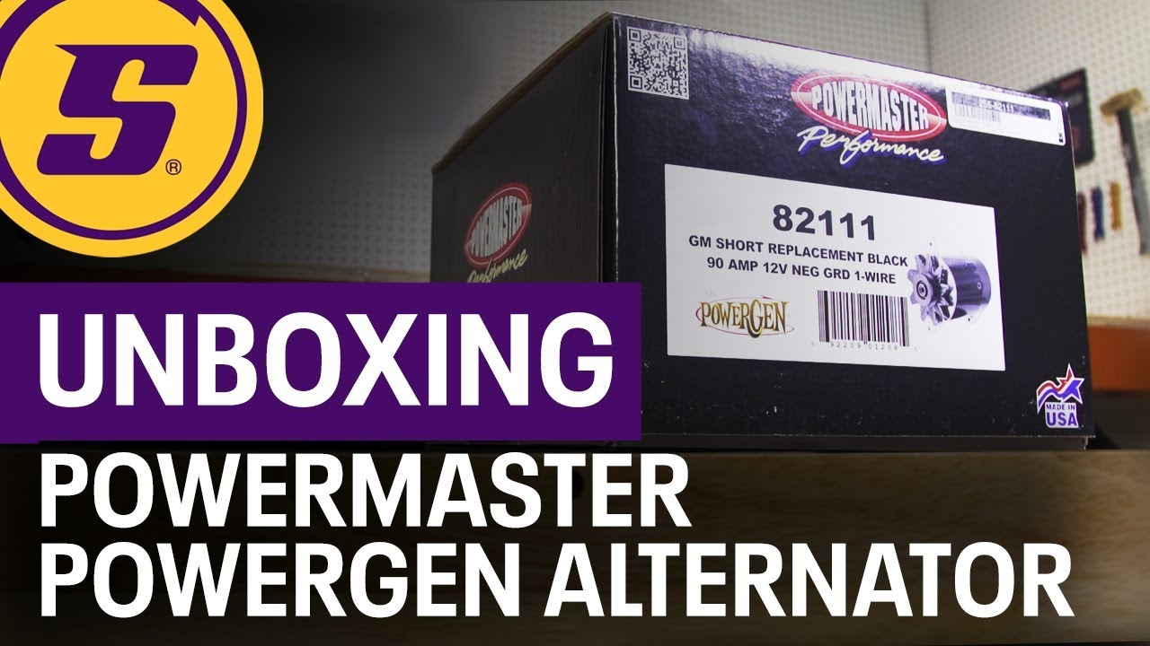 medium resolution of speedway unboxing powermaster shorty powergen early gm alternator