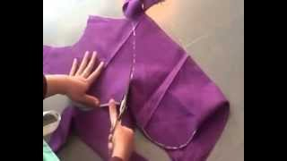blouse cutting in telugu || by using old blouse || part -01 ||
