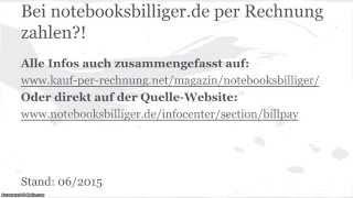 Der Rechnungskauf auf notebooksbilliger.de