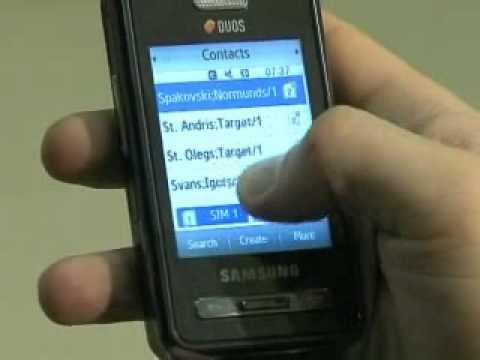 ZParks TV - apskatām telefonu ar divām SIM kartēm Samsung D980