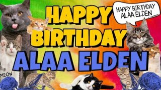 Happy Birthday Alaa Elden! Crazy Cats Say Happy Birthday Alaa Elden (Very Funny)