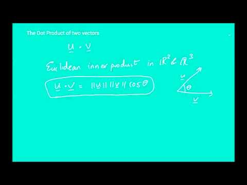 Elementary Linear Algebra  Lecture 17 - Euclidean Vector Spaces (part 2)