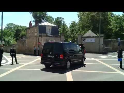 cortege barack obama chateau de benouville ( D-DAY 6 juin 2014 )