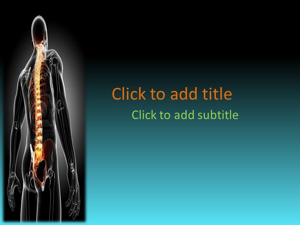 orthopedic powerpoint template - free download - youtube, Modern powerpoint