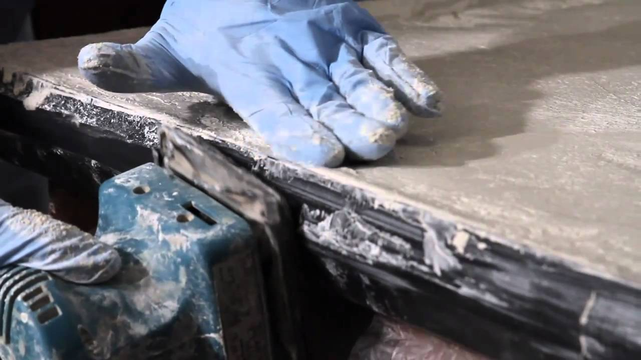 diy concrete countertops - how to make concrete countertops - youtube