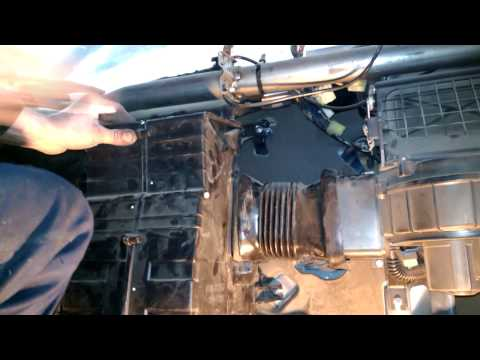 Daewoo Matiz Замена радиатора печки отопителя часть 3 Сборка