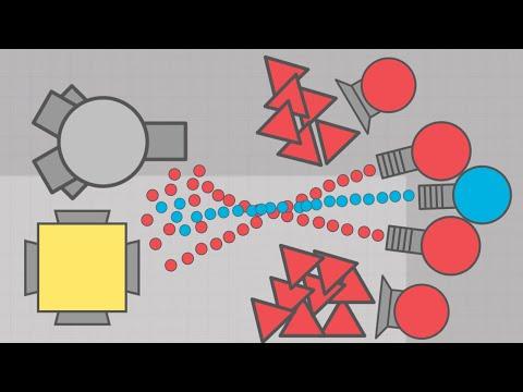 SANDBOX WAR!  PROTECT THE CORNER - Diep.io