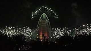 Burj Al Arab 15th anniversary / UAE National Day Fireworks 2014 (Full Show)