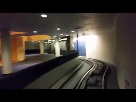 Riding the inter-terminal subway at Houston Intercontinental Airport