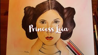 Princess Leia - Drawing by Ava Jane