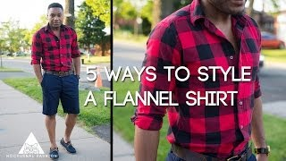 5 ways to style a flannel shirt by Nocturnal Fashion