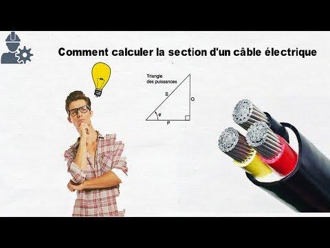 Calcule de la section d'un câble électrique | كيفية حساب سمك الكابل الكهربائي بالعربية
