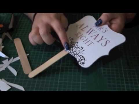 Diy wedding signs props or ceremony fans youtube ditch the ads solutioingenieria Choice Image