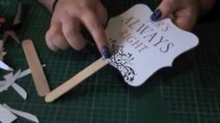 Diy Wedding Signs, Props Or Ceremony Fans