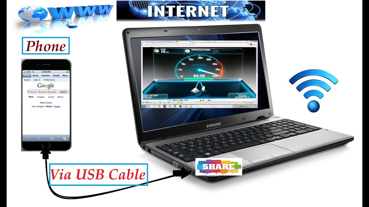 How To Connect Mobile Hotspot To Pc Without Usb Cable: How to share internet connection from pc to mobile phone via usb rh:youtube.com,Design