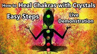 How to heal/open/unblock 7 Chakras by YOURSELF using Crystals   Divyaa Pandit