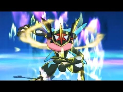 Pokemon Ultra Sun And Ultra Moon - Shiny Ash Greninja Z-Move