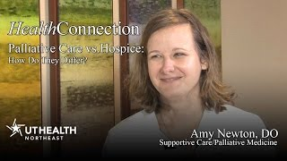 Palliative Care vs. Hospice: How Are They Different? - Dr. Amy Newton