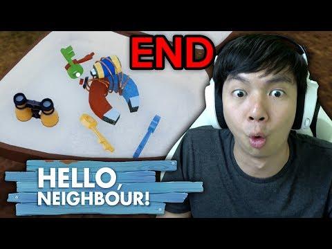 Akhirnya 4 Kunci - Hello Neighbor - Indonesia (END)