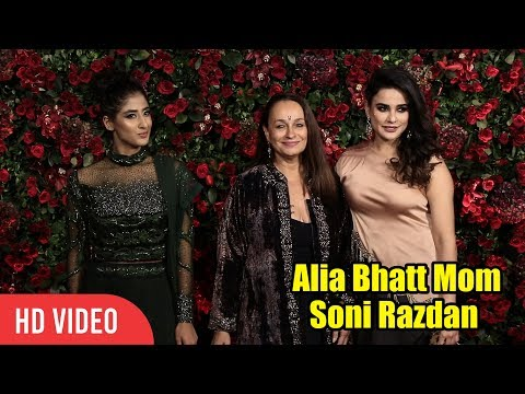 Alia Bhatt Mom Soni Razdan arrives at Ranveer-Deepika's Wedding Reception Party