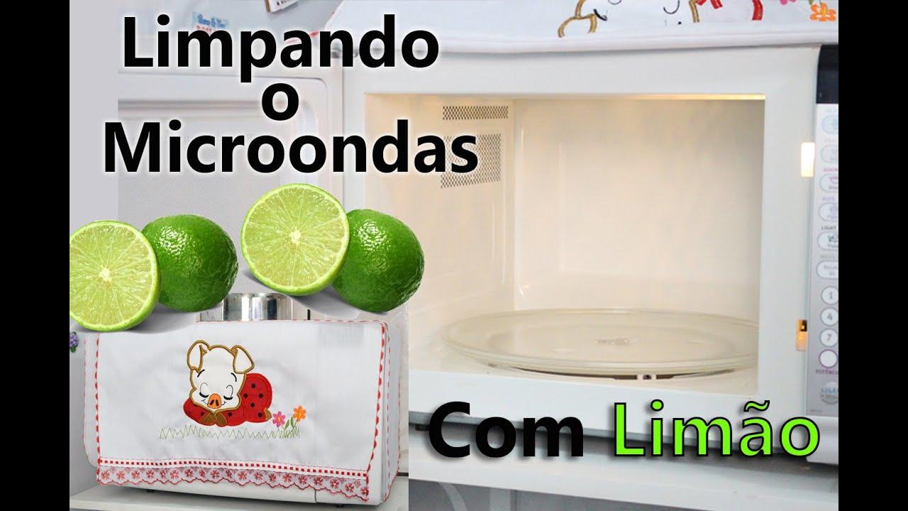 limpeza de microondas com limao