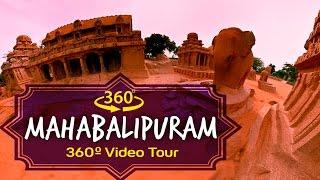 Top 10 Tourist Places Mahabalipuram, India 360 Degree Video