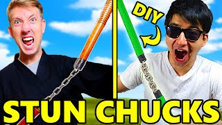 MAKING CWC STUN CHUCKS! DIY Spy Ninja Gadgets from Chad Wild Clay Vy Qwaint Videos