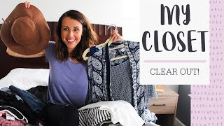 HELP ME CLEAR OUT MY CLOSET! (Don't watch if you're claustrophobic!)